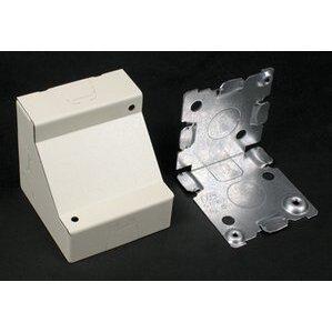 Wiremold 5719WH Stl Corner Box 2 1/2in. Deep White