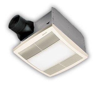 Broan QTRE080FLT Ceiling Fan/Light, 80 CFM, Energy Efficient