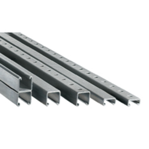"Plasti-Bond PBSH1000-10 Channel, with Slotted Holes, PVC Coated Steel, 1-5/8"" x 1-5/8"" x 10'"