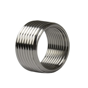 "Calbrite S61500FB10 Reducing Bushing, Threaded, Size: 1-1/2 to 1"", Stainless Steel"