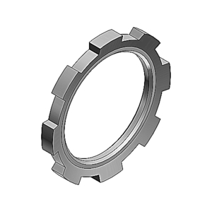 "Thomas & Betts 141AL Locknut, Size: 1/2"", Material: Aluminum"