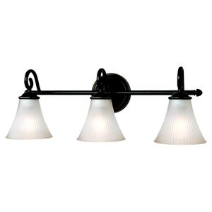 Sea Gull 44937-782 Bath Light, 3 Light, 100W, Heirloom Bronze