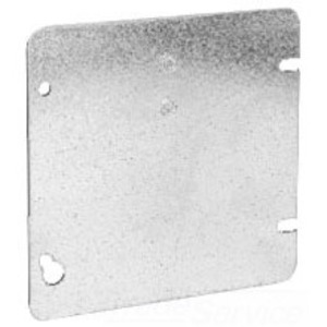"Cooper Crouse-Hinds TP568 4-11/16"" Square Cover, Flat, Blank, Steel"