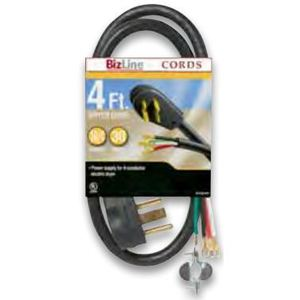 Bizline RG6282BL506 Range Cord, Type SRDT, 6', Black