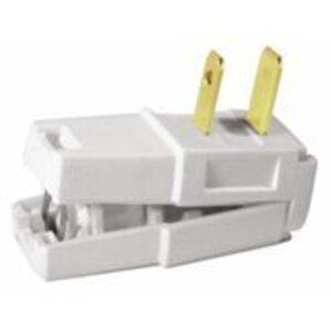 Leviton 321-W Pol Easy Wire Plug Wh