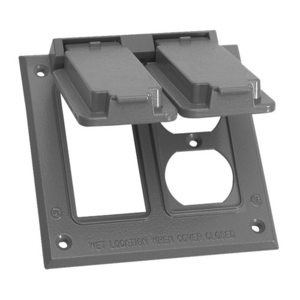 EGS WVDG2 Weatherproof Cover, 2-Gang, Type: (1) Duplex and (1) GFCI, Vertical