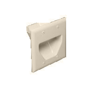 DataComm Electronics 45-0002-LA Recessed Plate, 2-Gang, Light Almond