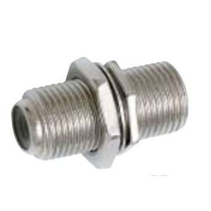 Quest CFS-0182 F-Connector, In-Line Coupler, F-81, Female to Female, Nut & Washer