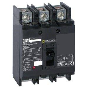 Square D QDL32100 Breaker, Molded Case, 100A, 3P, 240VAC, 25kAIC, Powerpact Q