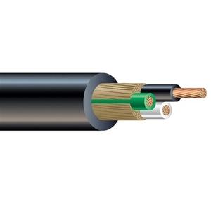 Multiple SOWASO1610BLK250CL Portable Cord, Type SO/SOWA, 16/10, Black, 250'