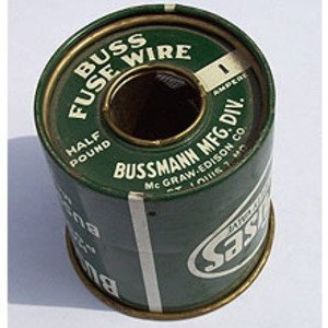 "Eaton/Bussmann Series BFW-10 Fuse Wire, 10 Amp Rating, .055"" Diameter"