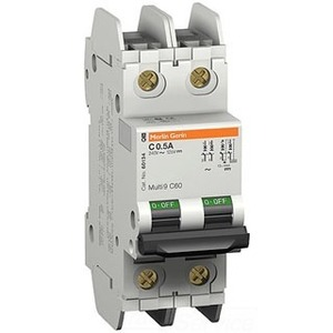 Square D 60158 Breaker, Miniature, 6A, 240V, 2P, DIN Rail Mount, Lug In, Lug Out