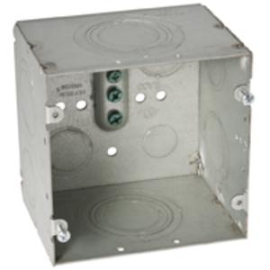 "Hubbell-Raco 260 4-11/16"" Square Data Box, Welded, Metallic, 3-1/4"" Deep"