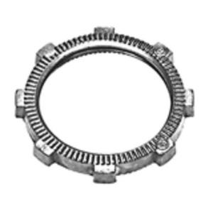 "Bridgeport Fittings 105-DC Locknut, Size: 1-1/2"", Material: Zinc Die Cast"