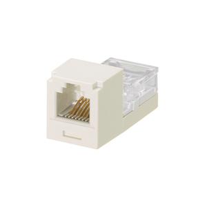Panduit CJ66IWY Snap-In Connector, Mini-Com, Cat 3, Class C, 6P4C, White
