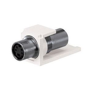 Panduit CMSVCWHY Module, S-Video Pass Through, White