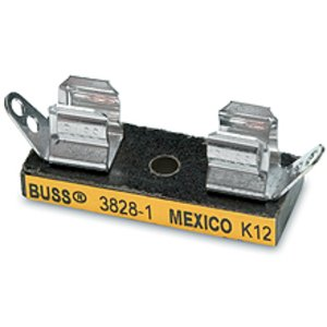 "Eaton/Bussmann Series 3828-4 4-Pole Fuse Block for 1/4"" x 1"" Fuses, 30A, 250V, Solder Terminal"