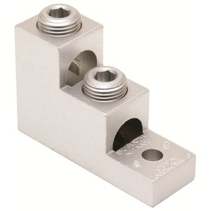 Burndy K11A39U2 Stacked Lug, Aluminum, 2-Conductor, 2-Hole Mount, 1/0 AWG to 750 MCM