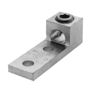 Burndy K3A31U2N Mechanical Lug, 3-Conductor, 2-Hole Mount, Aluminum, 6 AWG - 350 MCM