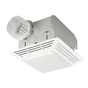 Broan 678 Ceiling Fan/Light, Fluorescent, 50 CFM