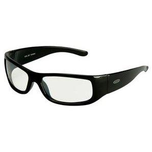 3M 11216-00000-20-EA Moon Dawg Safety Glasses, I/O Mirror Lens, Black Plastic Frame