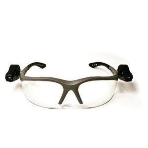 3M 11476-00000-10-EA Protective Eyewear, Dual LED Lights, Clear Lens