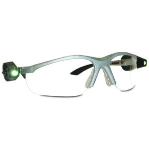 3M 11476-00000-EACH Protective Eyewear, Anti-Fog Clear Lens, Black Frame w/ Dual LED Lights