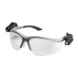 3M 11477-00000-10-EA Protective Eyewear with LED, Half-Frame, Gray,Anti-Fog Lens