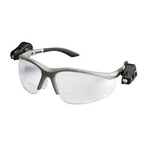 3M 11477-00000-10 Protective Eyewear with LED, Half-Frame, Gray,Anti-Fog Lens