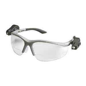 3M 11478-00000-10 Reader Protective Eyewear, 2.0 Bifocal Clear Lens, Gray Frame w/ LED Lights