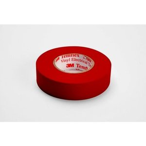 """3M 1700C-RED Vinyl Electrical Tape, Red, 3/4"""" x 66'"""