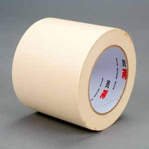 3M 200-96MM Masking Tape, White, 96mm x 55m