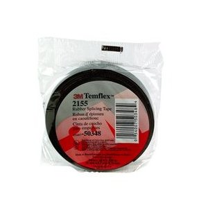 "3M 2155-3/4X22FT-20RLS Rubber Splicing Tape, 3/4"" x 22', Bulk Pack"