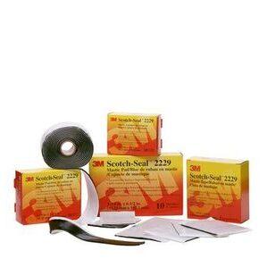 "3M 2229-P-3-3/4X3-3/4 Scotch-Seal Mastic Pad, 3-3/4"" x 3-3/4"", Black"