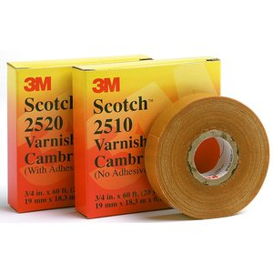 "3M 2510-36X25YD Varnish Cambric Tape, 36"" x 25 Yards"