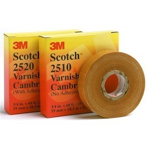 3M 2520 Varnished Cambric Tape, Adhesive