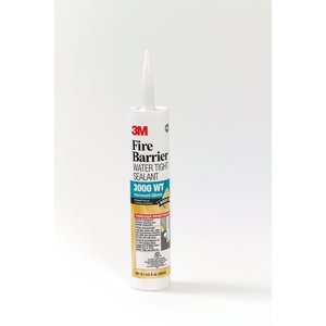3M 3000WT-10.1OZ Fire Barrier Water Tight Sealant, 10.1 Fl. Oz.