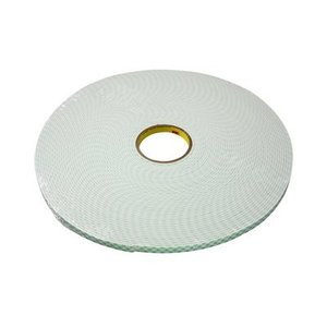 "3M 4004-1X18YD Double Coated Urethane Foam Tape, Off-White, 1"" x 18 Yd"