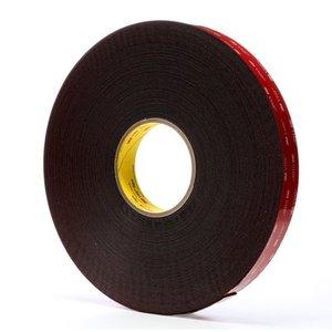 3M 5952-1/2X36YD VHB Tape, Black, 1 In x 36 Yd, 45.0 mil
