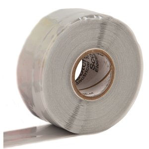 "3M 70-1X30FT Self-Fusing Silicone Rubber Tape, 1"" x 30'"