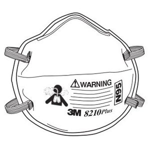 3M 8210PLUS Particulate Respirator, N95 Approved