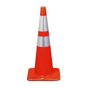 "3M 90128-R 18"" Orange Traffic Safety Cone, Reflective Tape"