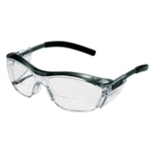 3M 91191-00002T Tekk Protection Readers Safety Glasses, Black Frame, Clear Lens