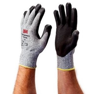 3M CGM-CR Comfort Grip Gloves, Cut Resistant, Medium, Gray