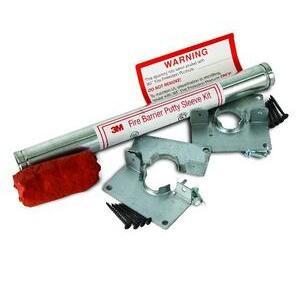 "3M DT100 Fire Barrier Putty Sleeve Kit, 1"" x 12"""
