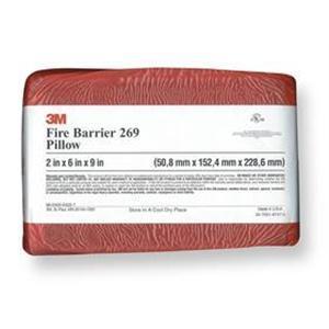 """3M FB-269 Red Fire Barrier Pillow, 2 x 6 x 9"""""""