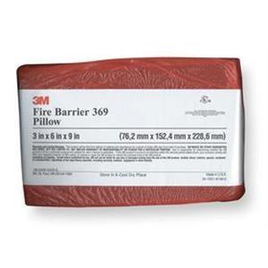 """3M FB-369 Red Fire Barrier Pillow, 3 x 6 x 9"""""""
