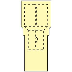 "3M FDI10-250Q Female Disconnect, Nylon Fully Insulated, 12 - 10 AWG, .25""x.032"" Tab"