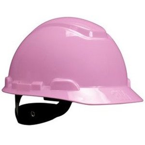 3M H-713R Hard Hat, Pink, 4-Point Ratchet Suspension