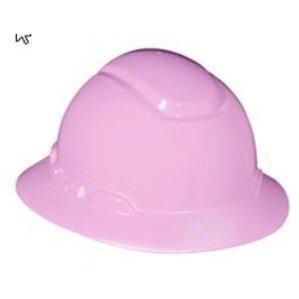 3M H-813R-EA Full Brim Hard Hat, Pink, 4-Point Ratchet Suspension